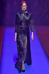 Model Lorna Foran walks on the runway during the Gucci Fashion Show during Milan Fashion Week Spring Summer 2018 held in Milan, Italy on September 20, 2017. (Photo by Jonas Gustavsson/Sipa USA)