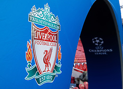 LIVERPOOL, ENGLAND - Wednesday, March 11, 2020: The Champions League arch branding seen before the UEFA Champions League Round of 16 2nd Leg match between Liverpool FC and Club Atlético de Madrid at Anfield. (Pic by David Rawcliffe/Propaganda)