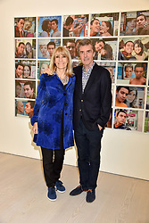 John Stapleton and Lynn Faulds Wood at a preview of the 'From Selfie To Self-Expression' exhibition at The Saatchi Gallery, Duke Of York's HQ, King's Road, London, England. 30 March 2017.