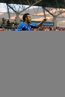 """Esultanza di Fabio Quagliarella Italia dopo il gol 1-1<br /> Ginevra, 05/06/2010 Stadio """"Stade de Geneve""""<br /> Svizzera-Italia<br /> Friendly match FIFA Wolrd Cup2010<br /> Foto Nicolo' Zangirolami Insidefoto"""