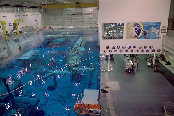Stock photo of training underway at the NASA Neutral Buoyancy Lab in Houston Texas