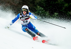 """Roberta Midali (ITA) competes during 1st Run of FIS Alpine Ski World Cup 2017/18 Ladies' Slalom race named """"Snow Queen Trophy 2018"""", on January 3, 2018 in Course Crveni Spust at Sljeme hill, Zagreb, Croatia. Photo by Vid Ponikvar / Sportida"""