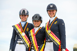 Prijsuitreiking Young Riders<br /> Flanders Dressage Event 2018<br /> © DigiShots