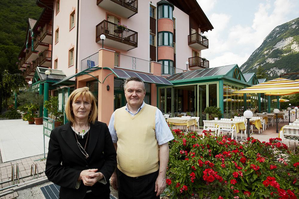 Tenno (TN) -  Club Hotel Lago di Tenno:  i proprietari  Gian Carlo e Marlena Marocchi.