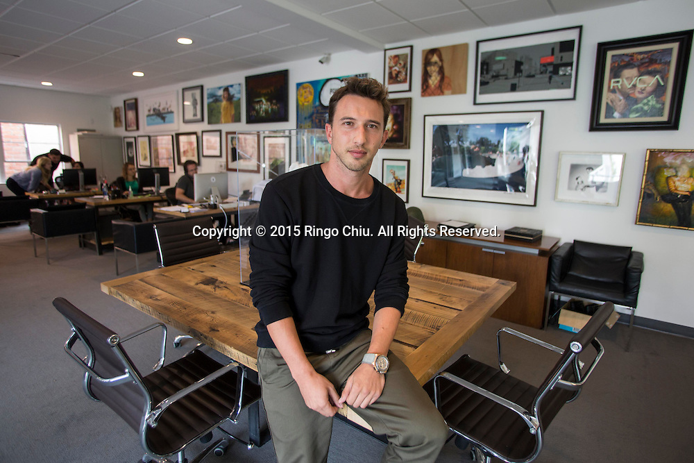 Brandon Korff, grandson of tycoon Sumner Redstone.(Photo by Ringo Chiu/PHOTOFORMULA.com)