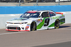 November 10, 2018 - Phoenix, Arizona, U.S. - PHOENIX, AZ - NOVEMBER 10:  Xfinity Series playoff contender Tyler Reddick (9) BurgerFi Chevrolet heads down pit lane after completion of qualifying session at the NASCAR Xfinity Series Playoff Race - Whelen 200  on November 10, 2018 at ISM Raceway in Phoenix, AZ.  (Photo by Lyle Setter/Icon Sportswire) (Credit Image: © Lyle Setter/Icon SMI via ZUMA Press)