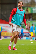 Charlton Athletic midfielder Alex Gilbey (11) warming up prior to the EFL Sky Bet League 1 match between Charlton Athletic and AFC Wimbledon at The Valley, London, England on 12 December 2020.