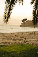 Sunset at Leadbetter Beach, Santa Barbara, California.