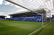 Stadium shot taken from inside the goal net before the EFL Sky Bet League 1 match between Peterborough United and Portsmouth at London Road, Peterborough, England on 15 September 2018.