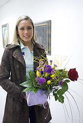 Snezana Rodic at welcome press conference after European Athletics Indoor Championships Torino 2009, AZS, Ljubljana, Slovenia, on March 9, 2009. (Photo by Vid Ponikvar / Sportida)