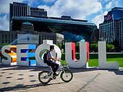 SEOUL, SOUTH KOREA: The front of Seoul City Hall and Seoul Plaza in Seoul, South Korea.       PHOTO BY JACK KURTZ