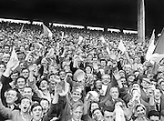 Crowds of supporters in the stands during the All Ireland Senior Gaelic Football final Dublin vs Derry in Croke Park on 28th September 1958. Dublin 2-12 Derry 1-9.