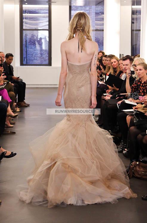 Vera Wang runway show during New York Bridal Spring 2012