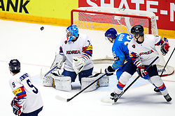 Matt Dalton of South Korea and Dustin Boyd of Kazakhstan during ice hockey match between South Korea and Kazakhstan at IIHF World Championship DIV. I Group A Kazakhstan 2019, on May 2, 2019 in Barys Arena, Nur-Sultan, Kazakhstan. Photo by Matic Klansek Velej / Sportida