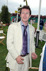 Actor NICK MORAN at the 2004 Cartier International polo day at Guards Polo Club, Windsor Great Park, Berkshire on 25th July 2004.