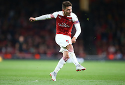 September 20, 2018 - London, England, United Kingdom - Arsenal's Lucas Torreira.during UAFA Europa League Group E between Arsenal and FC Vorskla Poltava at Emirates stadium , London, England on 20 Sept 2018. (Credit Image: © Action Foto Sport/NurPhoto/ZUMA Press)