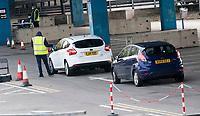 Covid 19 moble testing unit Spon Street Car Park Coventry photo by Brian Jordan