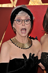 Rita Moreno walking on the red carpet during the 90th Academy Awards ceremony, presented by the Academy of Motion Picture Arts and Sciences, held at the Dolby Theatre in Hollywood, California on March 4, 2018. (Photo by Sthanlee Mirador/Sipa USA)