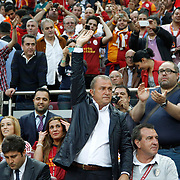Galatasaray's coach Fatih Terim during their Turkish Super League soccer match Galatasaray between Sivasspor at the AliSamiYen Spor Kompleksi TT Arena at Seyrantepe in Istanbul Turkey on Sunday 05 May 2013. Photo by TURKPIX