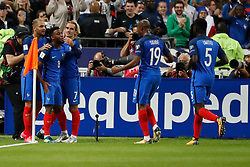 France's Thomas Lemar joy after scoring his great 2-0 goal during the World Cup 2018 Group A qualifications soccer match, France vs Netherlands at Stade de France in Saint-Denis, suburb of Paris, France on August 31st, 2017 France won 4-0. Photo by Henri Szwarc/ABACAPRESS.COM