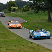 Driving demonstrations at The Motor Sport Hall of Fame will return to the spectacular Royal Automobile Club at Woodcote Park, Surrey, London, UK. 4 June 2018.