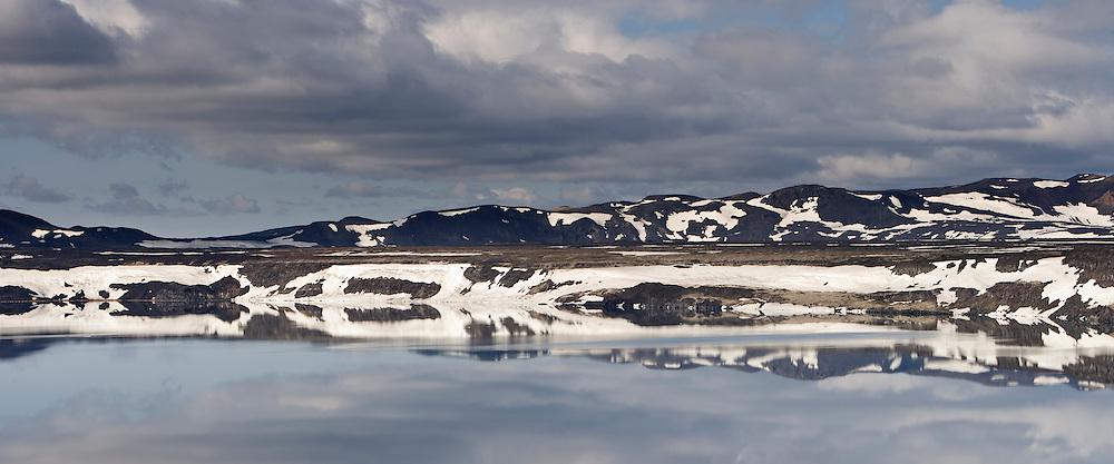 The lake Oskjuvatn in the highlands of Iceland - Öskjuvatn á hálendi Íslands