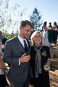 Bride and groom celebrate their intimate estate wedding with family and friends at a private residence in the Piedmont Hills of Oakland, California, on August 13, 2016. (Stan Olszewski/SOSKIphoto)