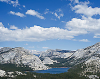 Yosemite national park, California - Tenaya lake and mountains viewed from above Olmsted point
