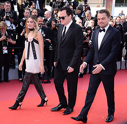 Premiere film 'Once upon a time in... Holywood'. 21 May 2019 Pictured: Margot Robbie, Quentin Tarantino, Leonardo Dicaprio. Photo credit: AFPS/MEGA TheMegaAgency.com +1 888 505 6342