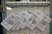 Induction booklets for new prisoners on E wing to read. HMP Wandsworth, London, United Kingdom