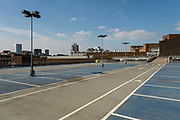 Empty rooftop spaces at a Barracks Multi-storey carpark on 23rd June 2021 in Coventry, United Kingdom. Despite lockdown easing and more people coming to the city centre, normal levels of parking are well down.