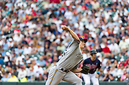 Milwaukee Brewers starter Zack Greinke pitches against the Minnesota Twins at Target Field in Minneapolis, Minnesota on June 17, 2012.  The Twins defeated the Brewers 5 to 4 in 15 innings.  The game was the longest in Target Field history.  © 2012 Ben Krause