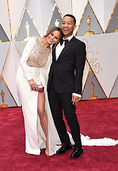Feb 26, 2017 - Hollywood, California, U.S. - CHRISSY TEIGEN and JOHN LEGEND during red carpet arrivals for the 89th Academy Awards. (Credit Image: © Lisa O'Connor via ZUMA Wire)