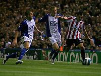 Photo: Steve Bond.<br />Birmingham City v Sunderland. The FA Barclays Premiership. 15/08/2007. David Connolly (R) attacks