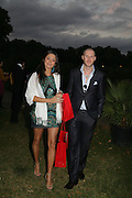 Iriane Jacques and Jean David Malat, QUINTESSENTIALLY AND ELEPHANT FAMILY TRUNK SHOW PARTY. SERPENTINE PAVILION, HYDE PARK. 16 SEPTEMBER 2007. -DO NOT ARCHIVE-© Copyright Photograph by Dafydd Jones. 248 Clapham Rd. London SW9 0PZ. Tel 0207 820 0771. www.dafjones.com.