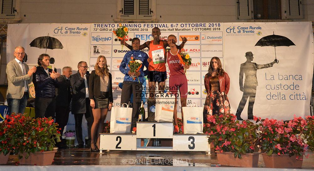 Trento Running Festival - October the 6th, 2018 -  Trento, Italy. Victory for Olympian Kiplimo - <br /> 72nd edition Giro al Sas © DANIELEMOSNA.IT
