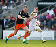 Paul Coutts of Sheffield Utd in action with during the English League One match at  Stadium MK, Milton Keynes. Picture date: April 22nd 2017. Pic credit should read: Simon Bellis/Sportimage