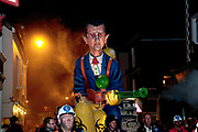 Lewes, Sussex. Bonfire Night November 5th 2013. President Assad effigy built and paraded by Cliffe Bonfire Society