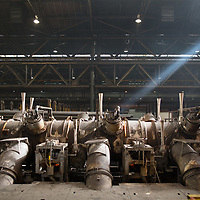 Sept 2015 - Tata Steel , Corby - part of the hot rolling mill in making steel tube