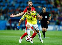 Radamel Falcao (Colombia) and Jordan Henderson (England)<br /> Moscow 03-07-2018 Football FIFA World Cup Russia 2018 <br /> Colombia - England / Colombia - Inghilterra<br /> Foto Matteo Ciambelli/Insidefoto