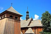 Barokowy kościół ze wsi Rogowo, dzwonnica ze wsi Kazimierza Wielka, Muzeum Wsi Kieleckiej – Park Etnograficzny w Tokarni