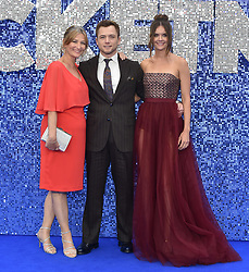 May 20, 2019 - London, United Kingdom - Christine Egerton, Taron Egerton and Emily Thomas are seen during the Rocketman UK Premiere at the Odeon Luxe Leicester Square in London. (Credit Image: © James Warren/SOPA Images via ZUMA Wire)