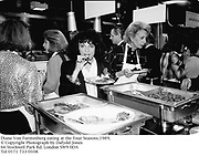 Diane Von Furstenberg eating at the Four Seasons.1989.<br />