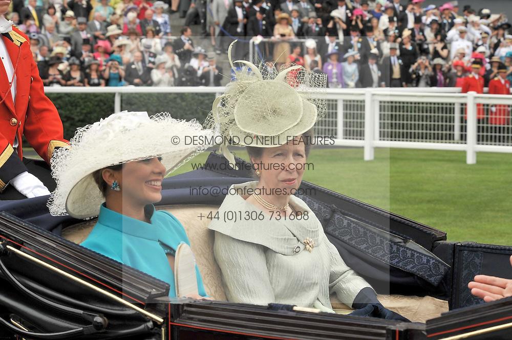 PRINCESS HAYA OF JORDAN and the PRINCESS ROYAL at the 3rd day of Royal Ascot 2009 on 18th June 2009.