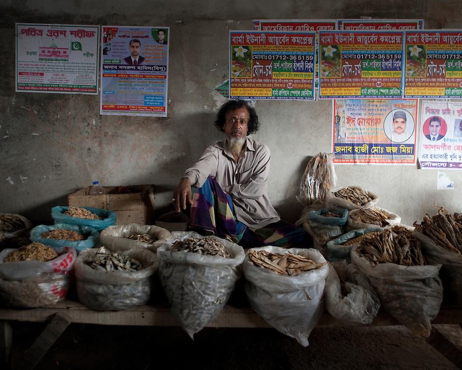 Portrait of market trader in Bangladesh