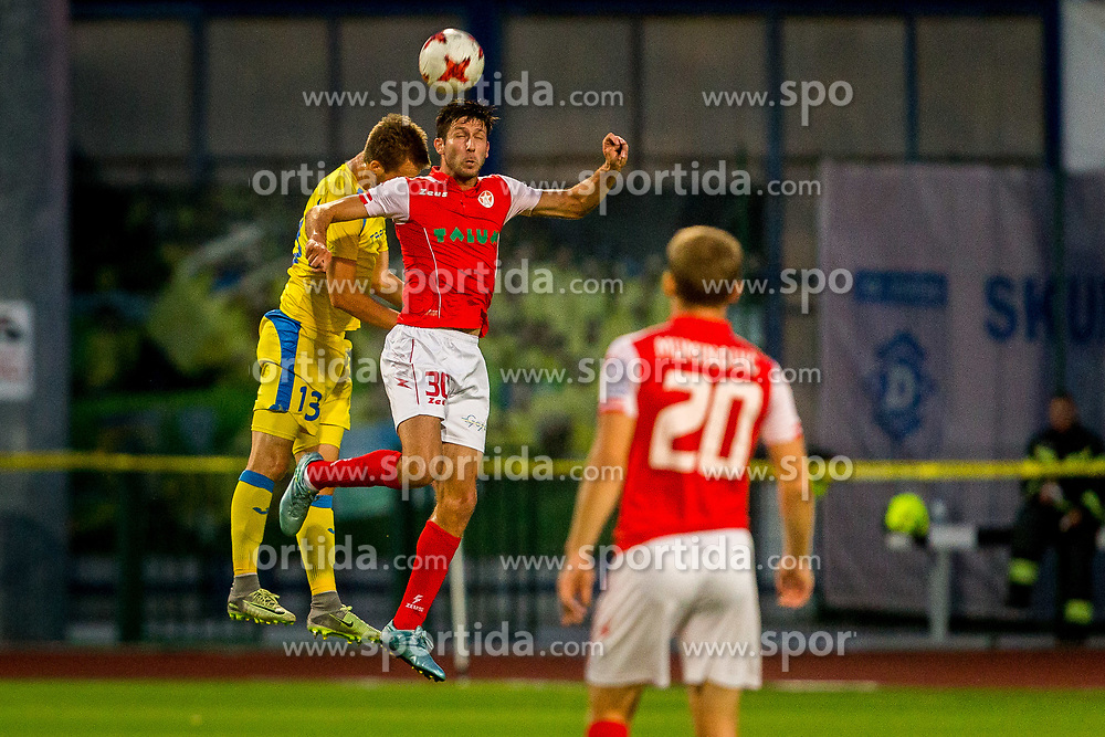 Vedran Mesec of NK Aluminij during football match between NK Domžale and NK Aluminij in 6th Round of Prva liga Telekom Slovenije 2017/18, on August 20, 2017 in Sports park Domzale, Domzale. Photo by Ziga Zupan / Sportida