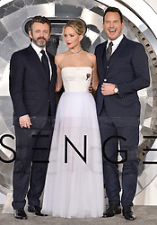 Michael Sheen, Jennifer Lawrence and Chris Pratt attend the World Premiere of Columbia Pictures' 'Passengers' at Regency Village Theatre on December 14, 2016 in Los Angeles, CA, USA. Photo by Lionel Hahn/ABACAPRESS.COM