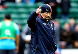 England head coach Eddie Jones gives a thumbs up - Mandatory by-line: Robbie Stephenson/JMP - 26/02/2017 - RUGBY - Twickenham Stadium - London, England - England v Italy - RBS 6 Nations round three