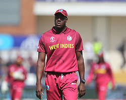July 1, 2019 - Chester Le Street, County Durham, United Kingdom - Carlos Brathwaite of West Indies during the ICC Cricket World Cup 2019 match between Sri Lanka and West Indies at Emirates Riverside, Chester le Street on Monday 1st July 2019. (Credit Image: © Mi News/NurPhoto via ZUMA Press)