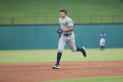 May 23, 2018 - Arlington, TX, U.S. - ARLINGTON, TX - MAY 23: New York Yankees outfielder Aaron Judge (99) rounds the bases after a home run during the game between the New York Yankees and the Texas Rangers on May 23, 2018 at Globe Life Park in Arlington, TX. (Photo by George Walker/Icon Sportswire) (Credit Image: © George Walker/Icon SMI via ZUMA Press)